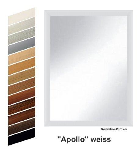 """rahmen nach mass s10024561k spiegel apollo weiss dekor komplett mit echtglas 45 x 61 cm - Rahmen nach Maß S10024561K Spiegel """"Apollo"""" weiß dekor komplett mit Echtglas, 45 x 61 cm"""
