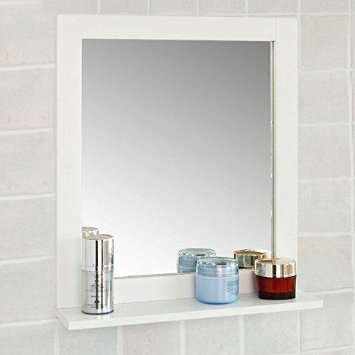 sobuy spiegel wandspiegel badspiegel mit ablagefrg129 w - SoBuy® Spiegel, Wandspiegel, Badspiegel mit Ablage,FRG129-W