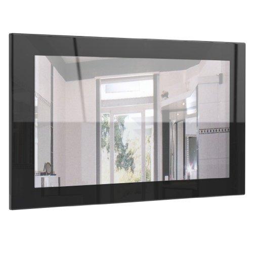spiegel wandspiegel lima 89cm in schwarz hochglanz - Spiegel Wandspiegel Lima 89cm in Schwarz Hochglanz