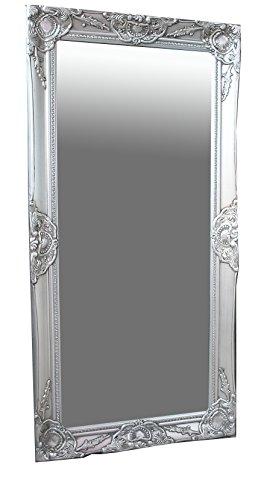 411nDVUO+8L - Spiegel Wandspiegel antik silber Barock MELINA 100 x 50 cm