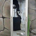 Livitat® Wandspiegel Spiegel Badspiegel barock antik silber (140 x 50 cm)