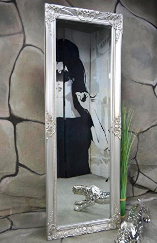 livitat wandspiegel spiegel badspiegel barock antik silber 140 x 50 cm - Livitat® Wandspiegel Spiegel Badspiegel barock antik silber (140 x 50 cm)