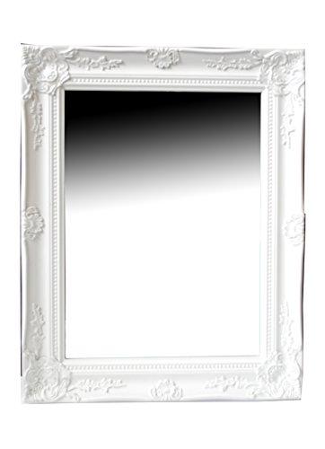 spiegel wandspiegel flurspiegel fiona weiss barock 465 x 37 cm - Spiegel Wandspiegel Flurspiegel FIONA weiß Barock 46,5 x 37 cm