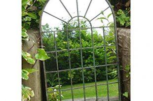 Brown Ginger Deko Gothic Tuer Arched Mottled GruenBraun gerahmter Garten 310x205 - Brown & Ginger Deko Gothic-Tür Arched Mottled, Grün/Braun, gerahmter Garten Wandspiegel, Medium/Large, Mottled Green, Large
