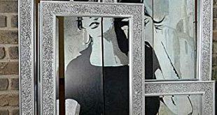 Livitat® Wandspiegel 120 x 60 cm Spiegel Mosaik Badspiegel mit 310x165 - Livitat® Wandspiegel 120 x 60 cm Spiegel Mosaik Badspiegel mit Glasmosaik Crackle LV9051