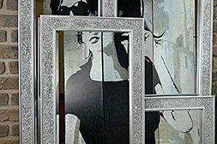 Livitat® Wandspiegel 120 x 60 cm Spiegel Mosaik Badspiegel mit 310x205 - Livitat® Wandspiegel 120 x 60 cm Spiegel Mosaik Badspiegel mit Glasmosaik Crackle LV9051
