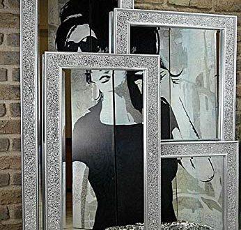 Livitat® Wandspiegel 120 x 60 cm Spiegel Mosaik Badspiegel mit 346x330 - Livitat® Wandspiegel 120 x 60 cm Spiegel Mosaik Badspiegel mit Glasmosaik Crackle LV9051